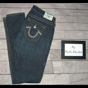 True Religion Skinny Jeans Lonestar Dark Metallic